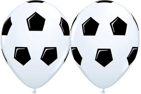 10 x Globos Látex 11 Balon de Fútbol Soccer Qualatex