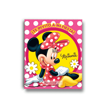 6 Invitaciones de Minnie Mouse