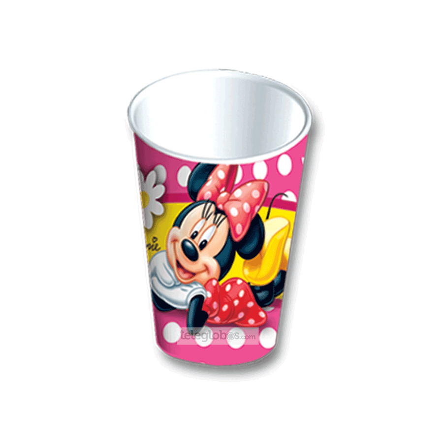 6 Vasos Desechables Fiesta de Minnie Mouse