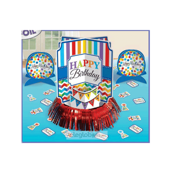 Kit Decorativo para Mesa Bright Birthday