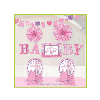 Kit Decorativo Cuarto Shower With Love Girl