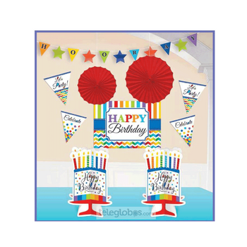 Kit Decorativo Bright Birthday