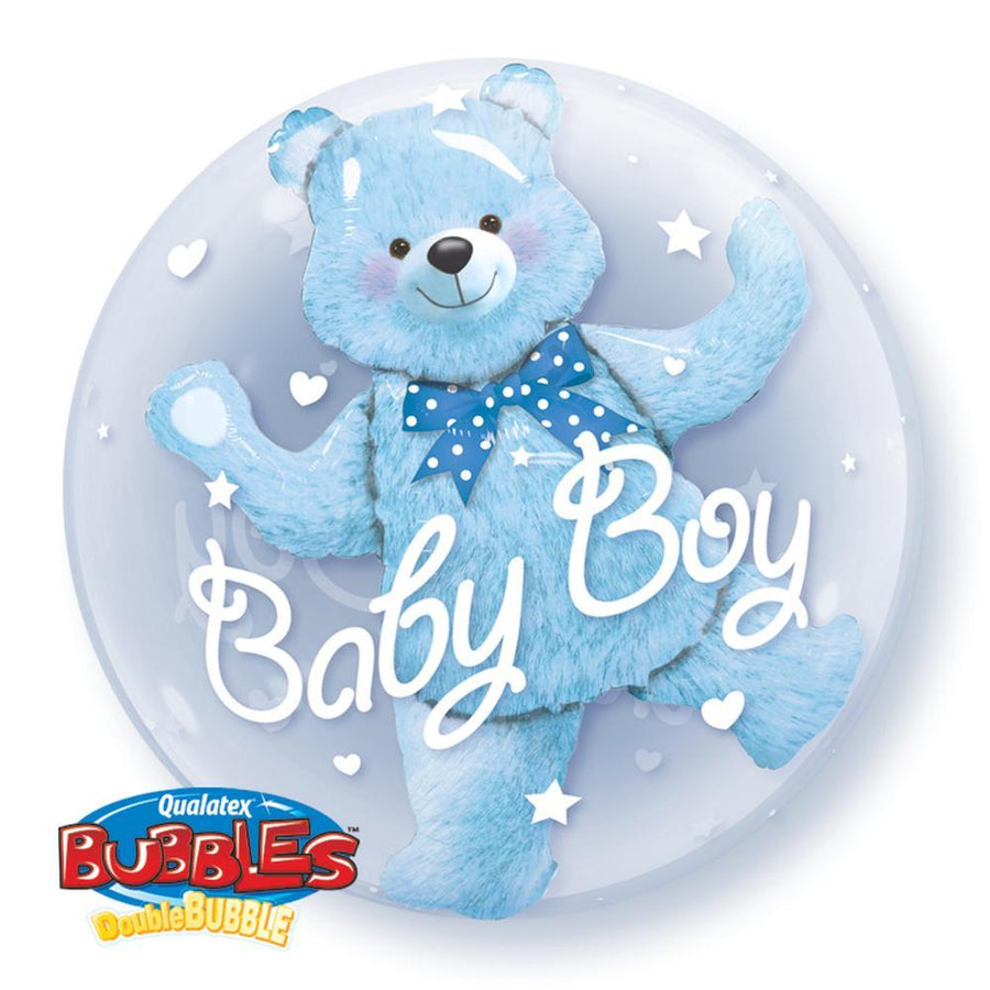 "Globo Burbuja Doble de 24"" Birthday Boy Qualatex"