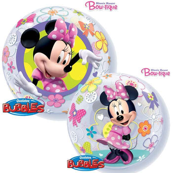 Globo Burbuja Sencilla de 22 Pulgadas Minnie Bow-tique Qualatex