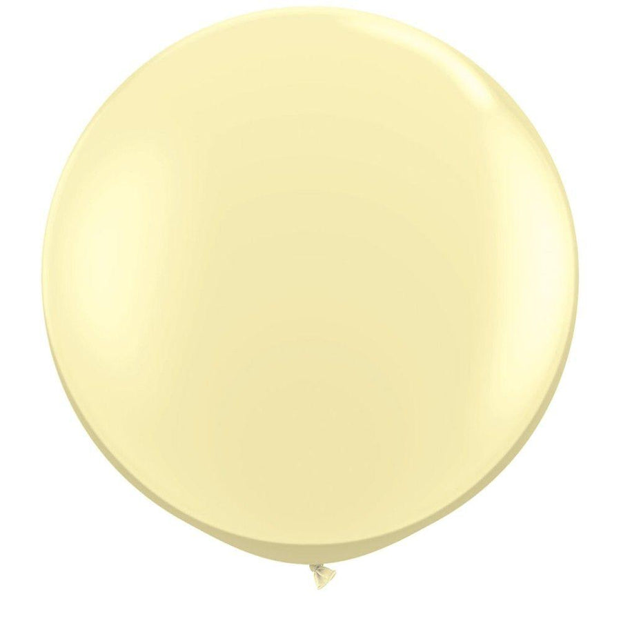 2 x Globos Látex Ivory 3 Pies Qualatex