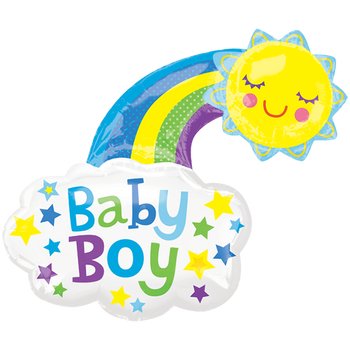 Baby Boy Bright Sol Feliz SuperShape Globo Metálico