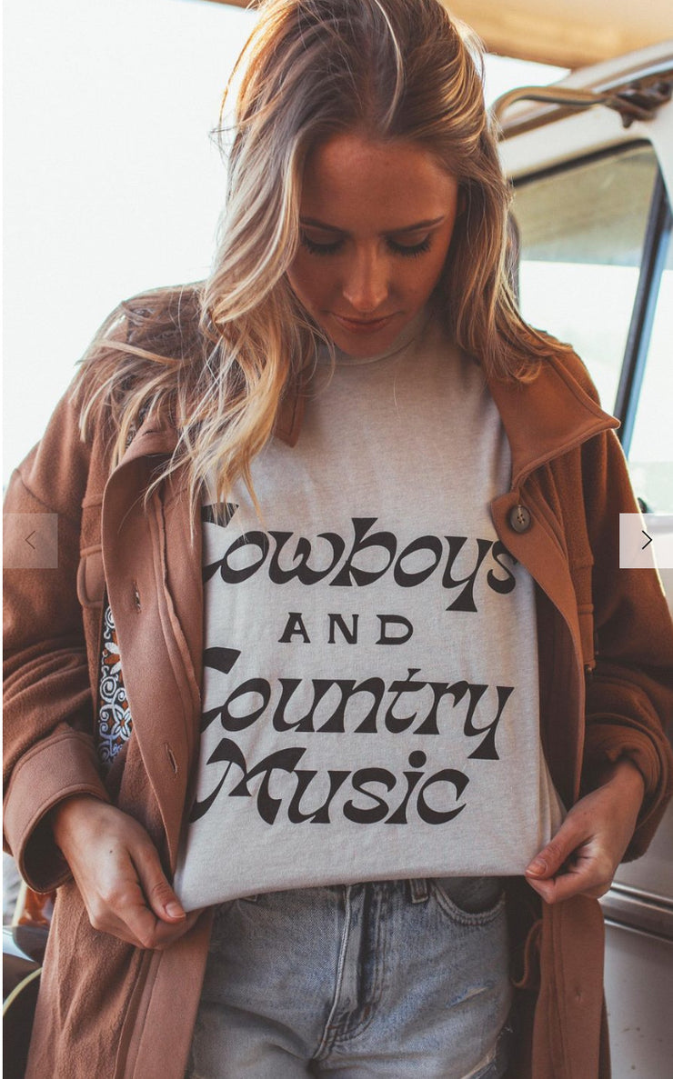 Cowboy and country music tee