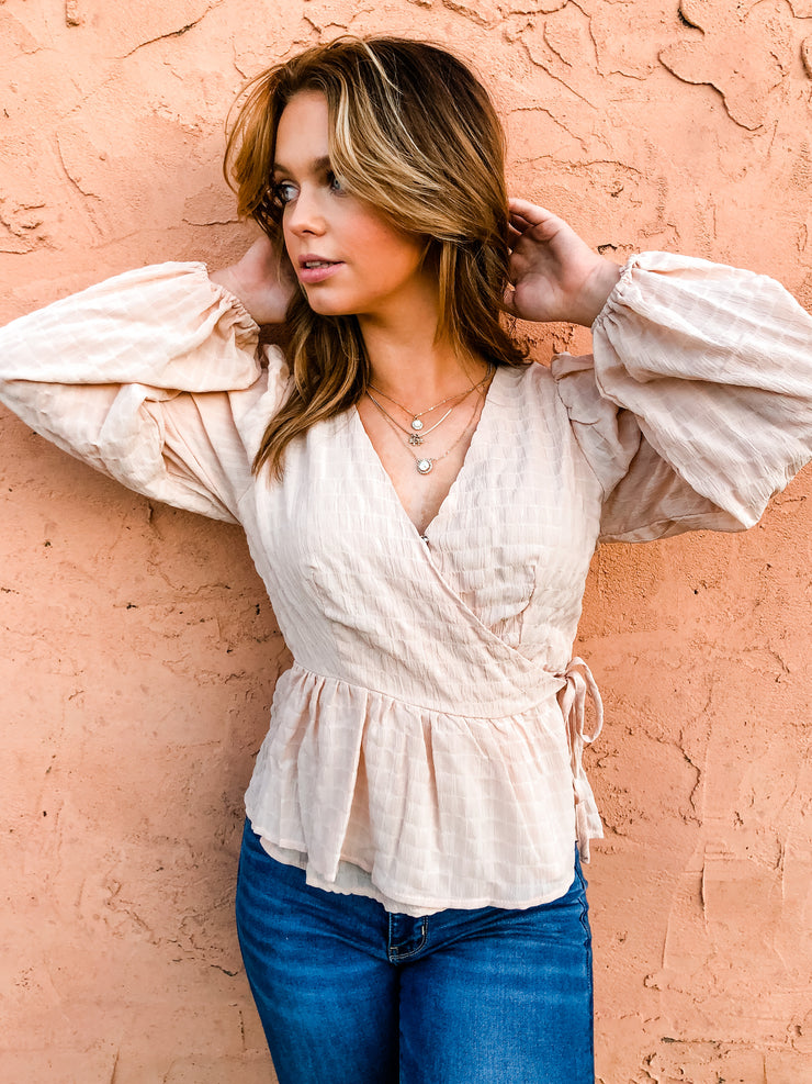 The Lincoln Wrap Top