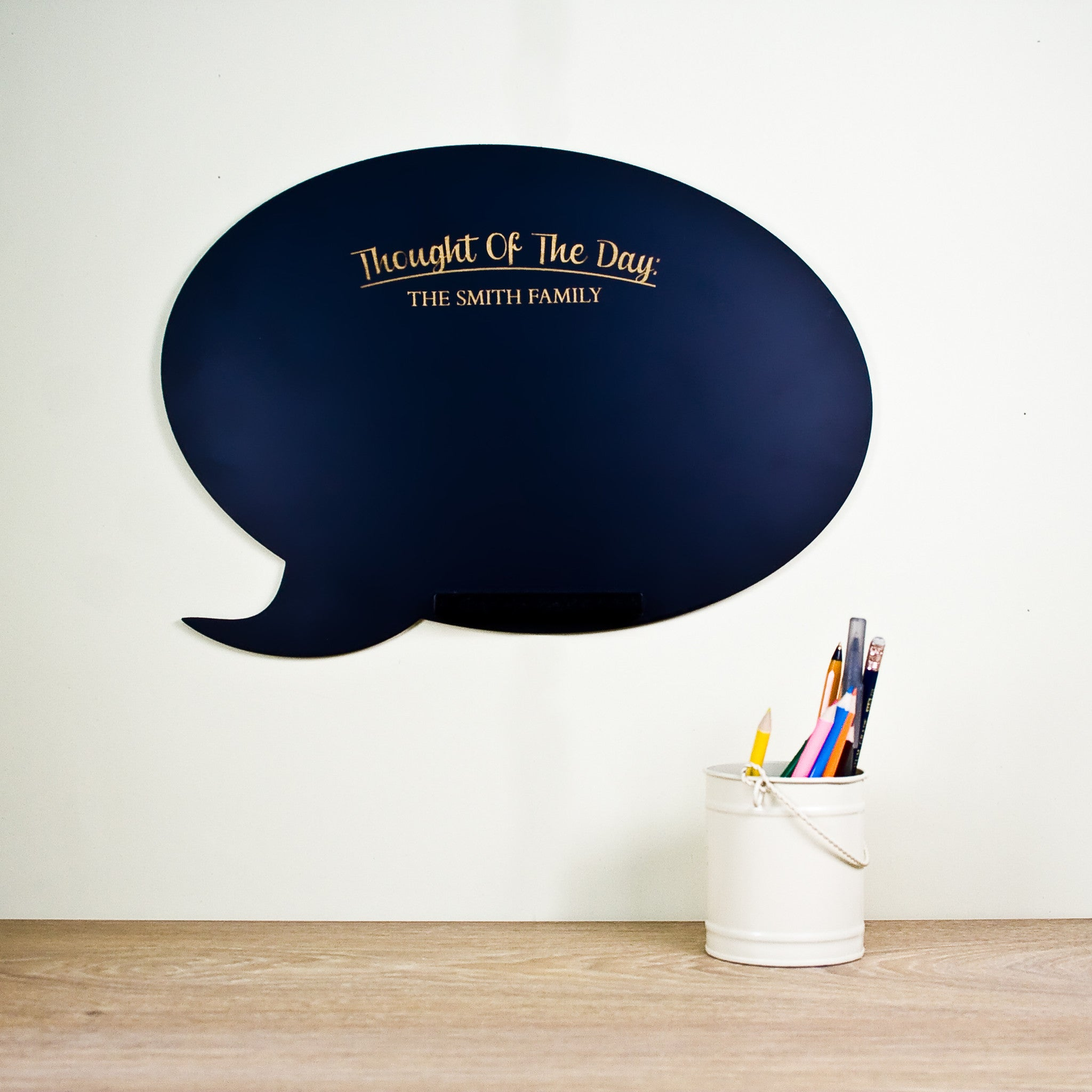 Thought Of The Day Speech Bubble Chalkboard
