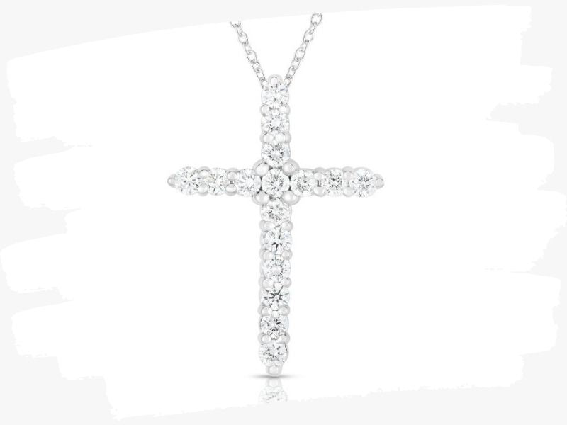 white gold crosses with diamonds