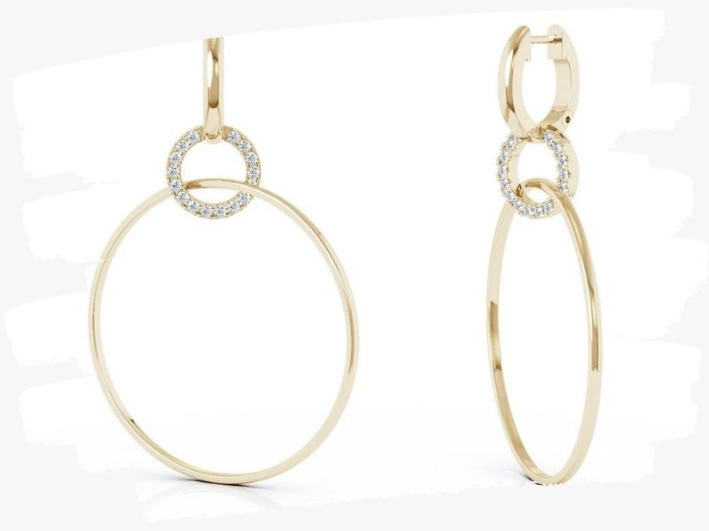 circle diamond earrings for women