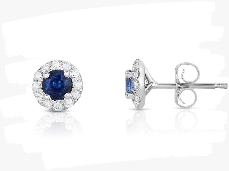 gemstone earrings with diamonds