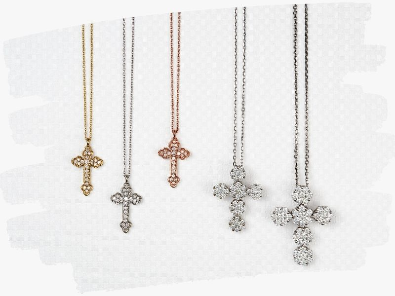yellow and white gold crosses