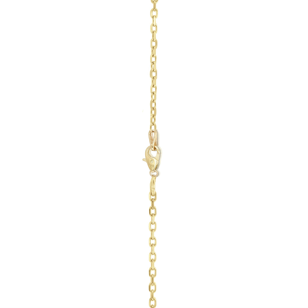"Noray Designs 14K Gold Diamond (0.68 Ct, G-H Color, SI2-I1 Clarity) Cross Pendant With 18"" Gold Chain"