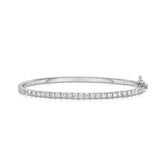 14K White Gold Diamond (1.35 Ct, G-H Color, I1-I2 Clarity) Bangle