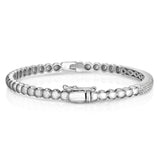 Noray Designs 14K White Gold 2-Row Diamond (0.65 Ct, G-H Color, SI2-I1 Clarity) Beaded Bangle