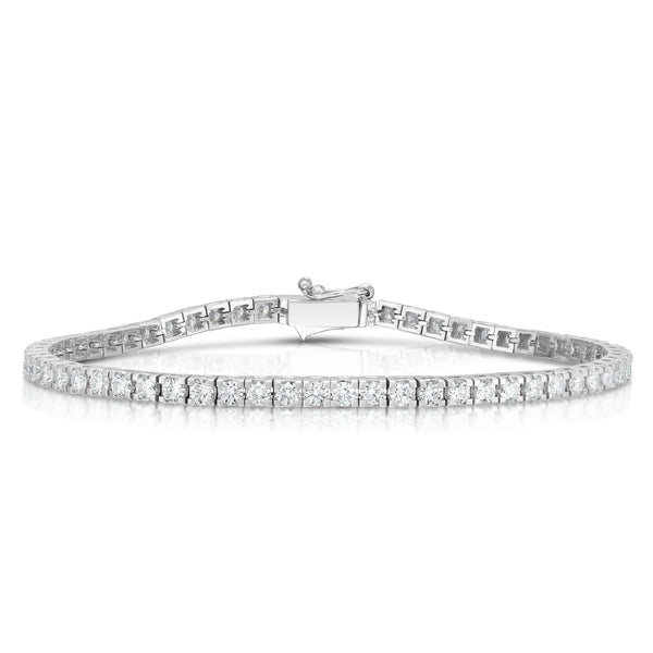 14K White Gold Diamond (2.60 Ct, G-H Color, SI2-I1 Clarity) Tennis Bracelet