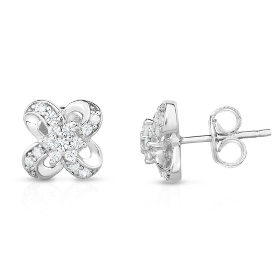14K White Gold Diamond (0.30 Ct, G-H Color, SI2-I1 Clarity) Earrings