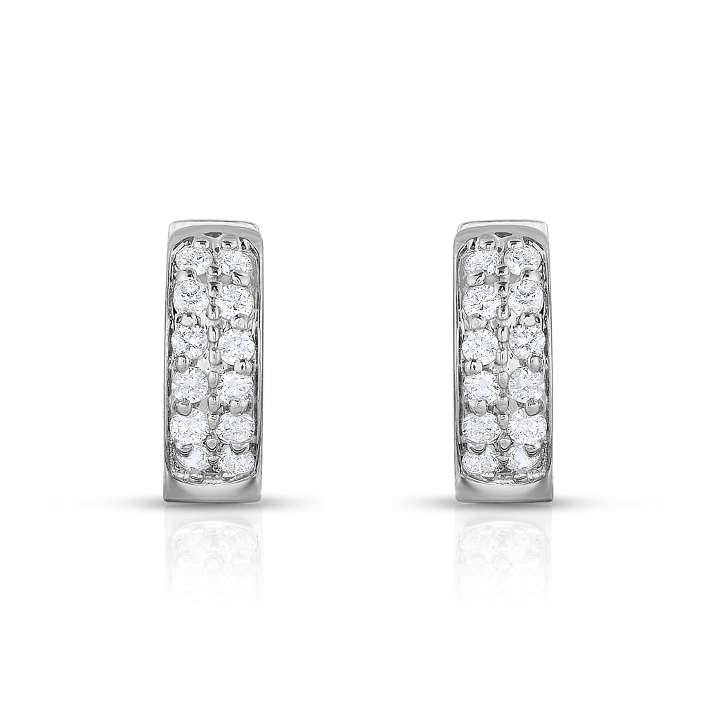 14K Gold Diamond (0.24 Ct, G-H Color, SI2-I1 Clarity) Huggie Earrings