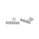 14K Gold Diamond Bar Earrings (0.12 Ct, G-H Color, SI2-I1 Clarity)