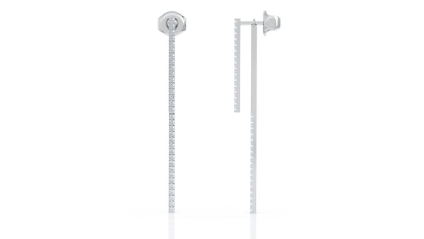 14K Gold Diamond Double-Bar Drop Earrigns (0.40 Ct, G-H Color, SI2-I1 Clarity)