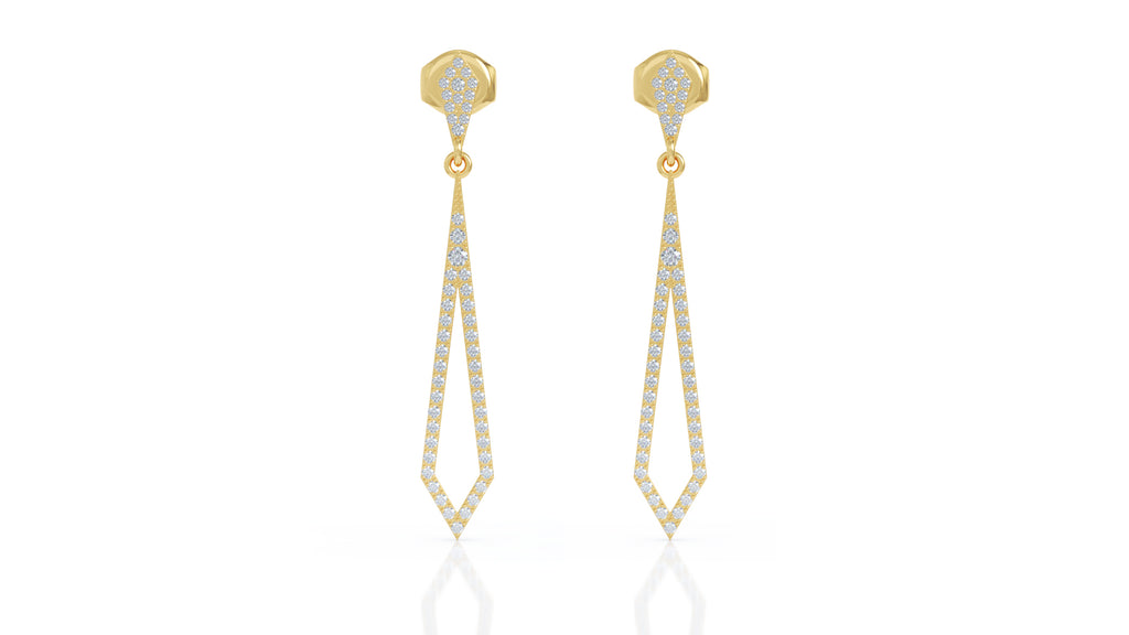 14K Gold Diamond Drop Earrigns (0.75 Ct, G-H Color, SI2-I1 Clarity)