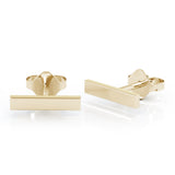 14K Gold Bar Earrings by Noray Designs