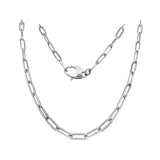14K Gold 3.6MM Link Paperclip Link Chain Necklace, 20""