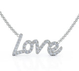 "14K Gold LOVE Diamond Pendant Necklace (0.35 CT, G-H, SI2-I1), 16-17"" Chain by Noray Designs"