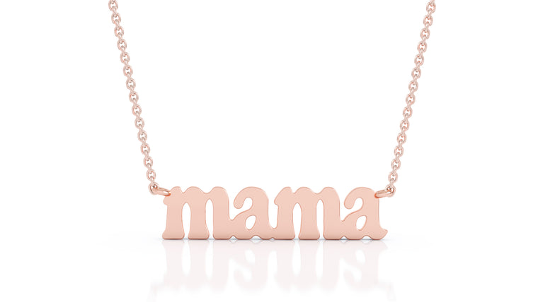 "14K Gold ""Mama"" Necklace, 17""-18"""