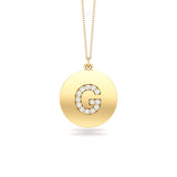 "14K Gold Diamond (0.07Ct, G-H Color, SI2-I1 Clarity) A-Z Alphabet Initial Pendant, 18"" Gold Chain"