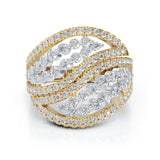 14K Gold Diamond (1.00 Ct, G-H Color, SI2-I1 Clarity) Two-Tone Ring