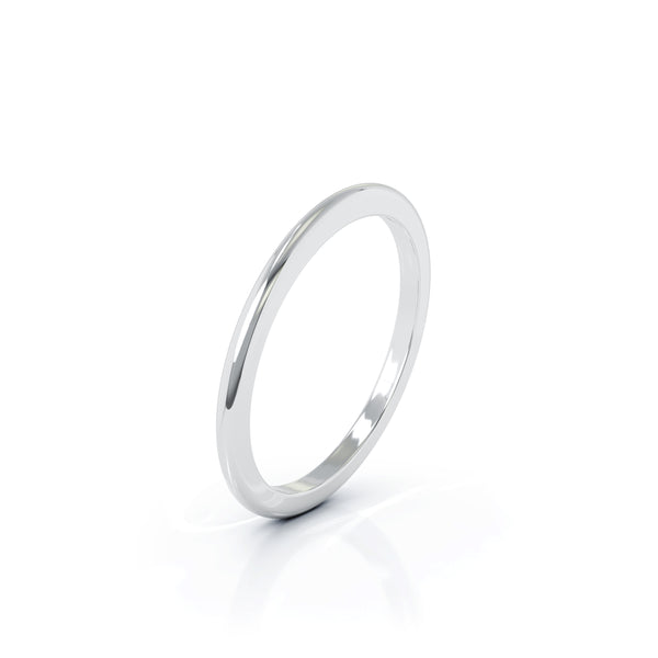 Sterling Silver Domed Profile 1.5MM High Polished Wedding Band