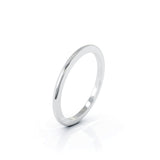 Platinum Domed Profile 1.5MM High Polished Wedding Band
