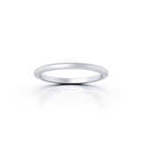 Platinum Domed Profile 1.5MM Matte Finish Wedding Band