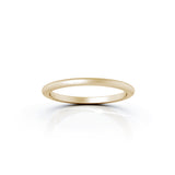 18K Gold Domed Profile 1.5MM Matte Finish Wedding Band