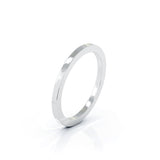 Sterling Silver Square Profile 1.5MM High Polished Wedding Band