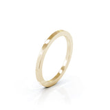 18K Gold Square Profile 1.5MM High Polished Wedding Band