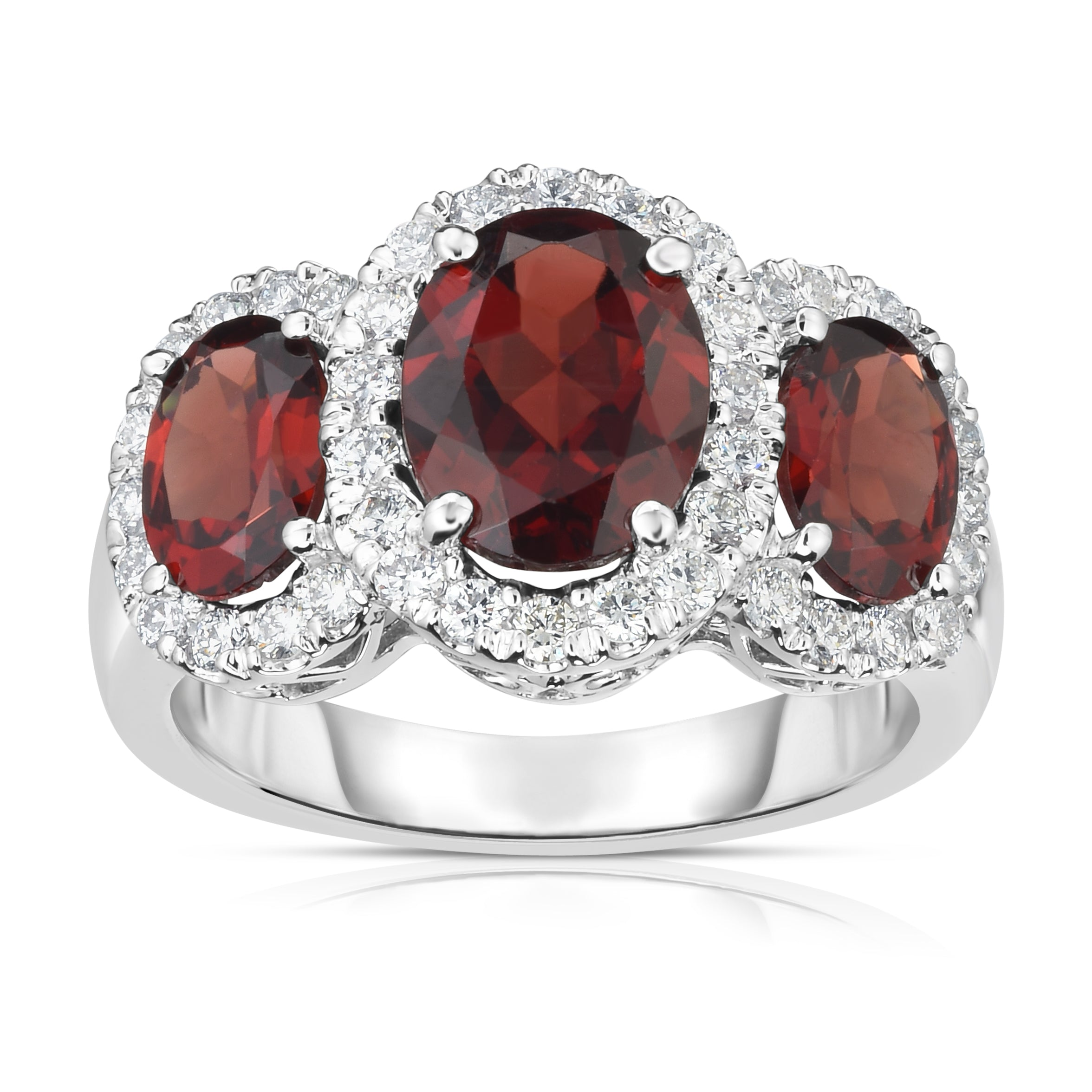 by pavilion shape ring diamond red a dome ruby central surrounded graff featuring pear and teardrop bomb collections bombe rings