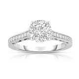 GIA Certified 14K Gold Diamond (1.18 Ct, G Color, SI2 Clarity) Engagement Ring