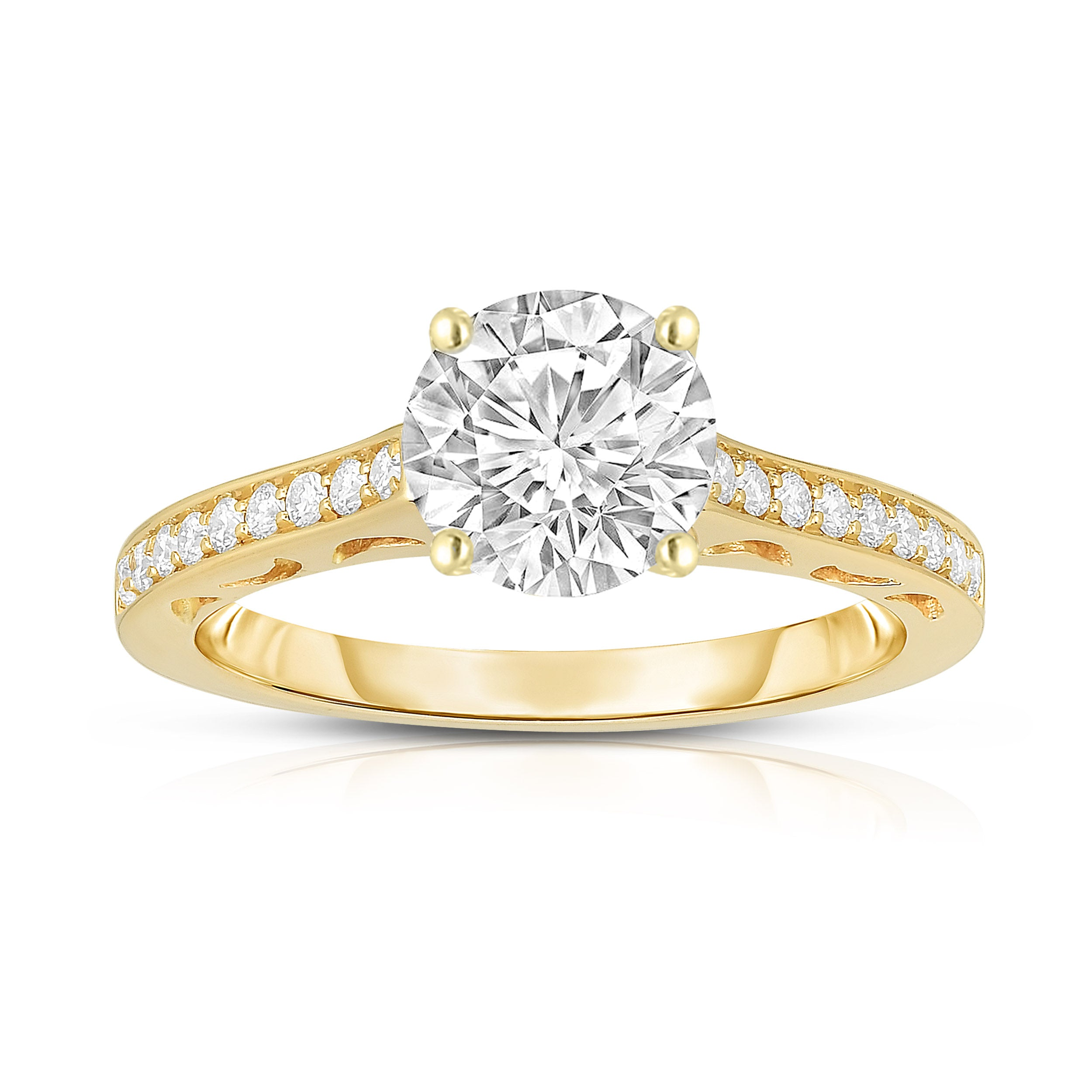 halo gold round engagement brilliant rose ring product certappr rings gia