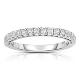 14K White Gold Diamond (0.45 Ct, G-H Color, SI2-I1 Clarity) Wedding Band