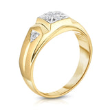 14K Gold Diamond (0.12 Ct, I1-I2 Clarity, G-H Color) Men's 7-Stone Ring