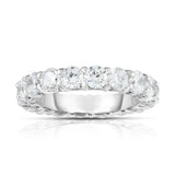 14K White Gold Diamond (4.00 Ct-4.40 Ct, G-H Color, SI2-I1 Clarity) Eternity Ring