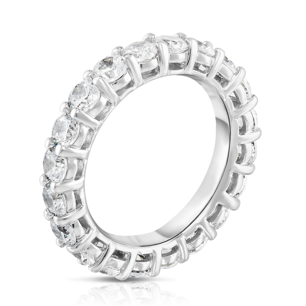 14K White Gold Diamond (3.00 Ct-3.30 Ct, G-H Color, SI2-I1 Clarity) Eternity Ring