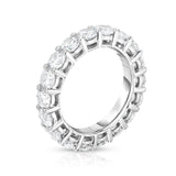 14K White Gold Diamond (4.00 Ct-5.00 Ct, G-H Color, SI2-I1 Clarity) Eternity Ring