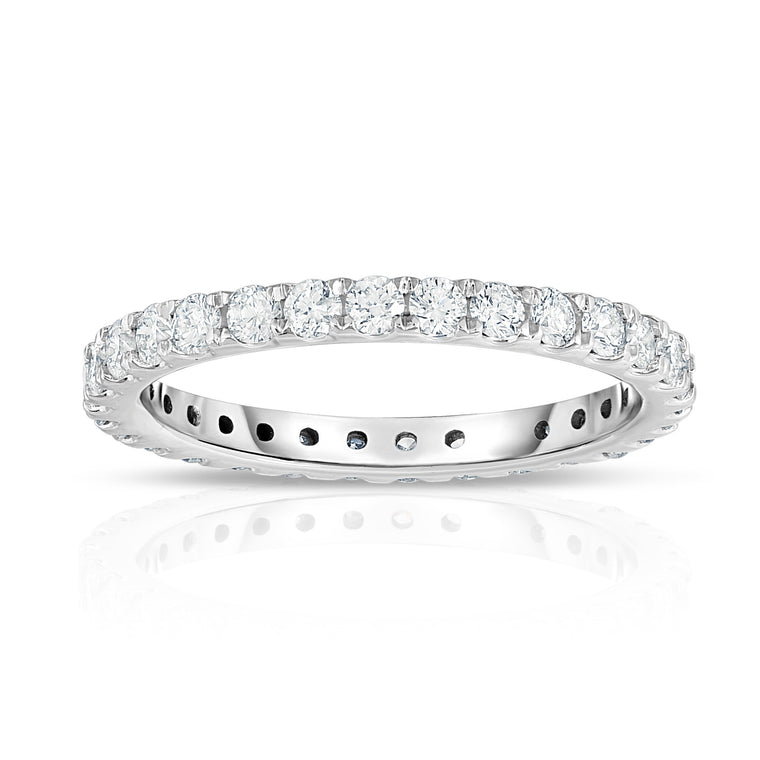 14K White Gold Diamond (0.80 Ct-1.00 Ct, G-H Color, I1-I2 Clarity) Eternity Ring