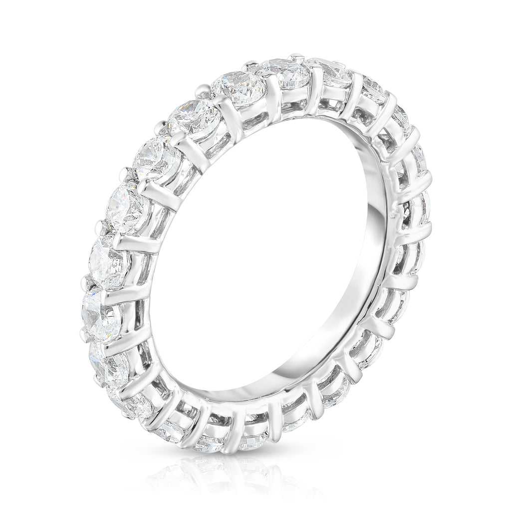14K White Gold Diamond 2.00-2.40 Ct, G-H Color, SI2-I1 Clarity) Eternity Band
