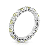 14K White Gold Peridot & Diamond (1.30-1.50 Ct TW, SI2-I1 Clarity) Eternity Ring