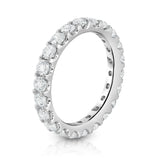 14K White Gold Diamond (1.9 Ct-2.25 Ct, G-H Color, SI2-I1 Clarity) Eternity Band